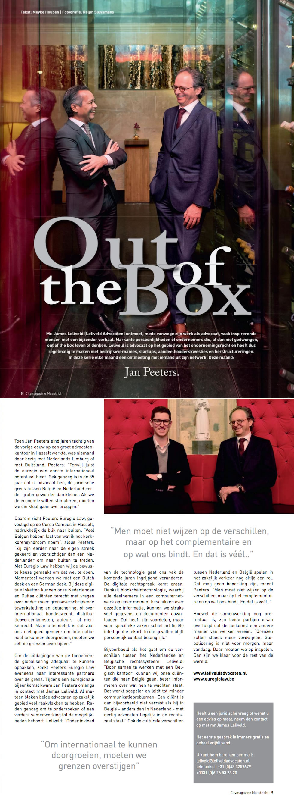 Peeters Euregio Law Citymagazine Maastricht